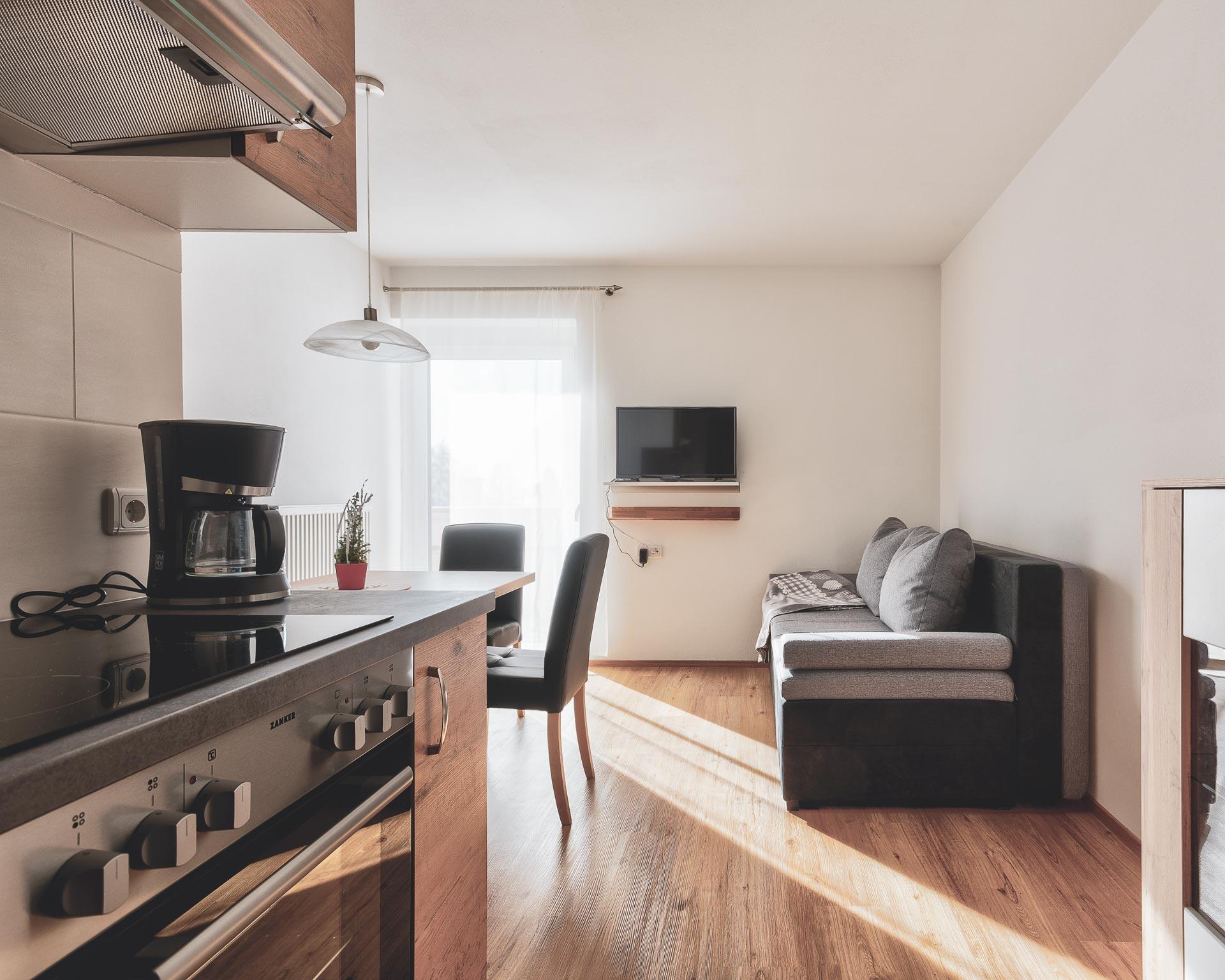 wohnküche apartment muehlen pfarrwirt sand in taufers