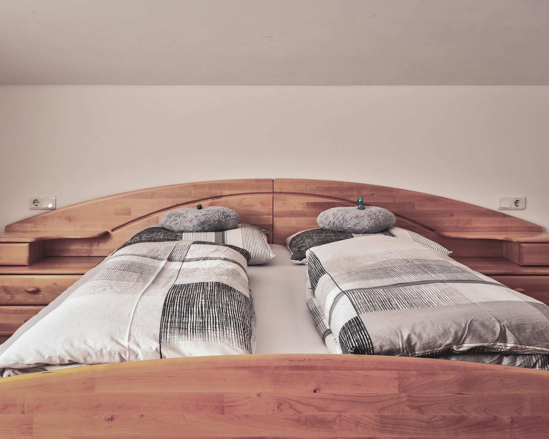 schlafzimmer chalet waldblick 1 appartements pfarrwirt sand in taufers