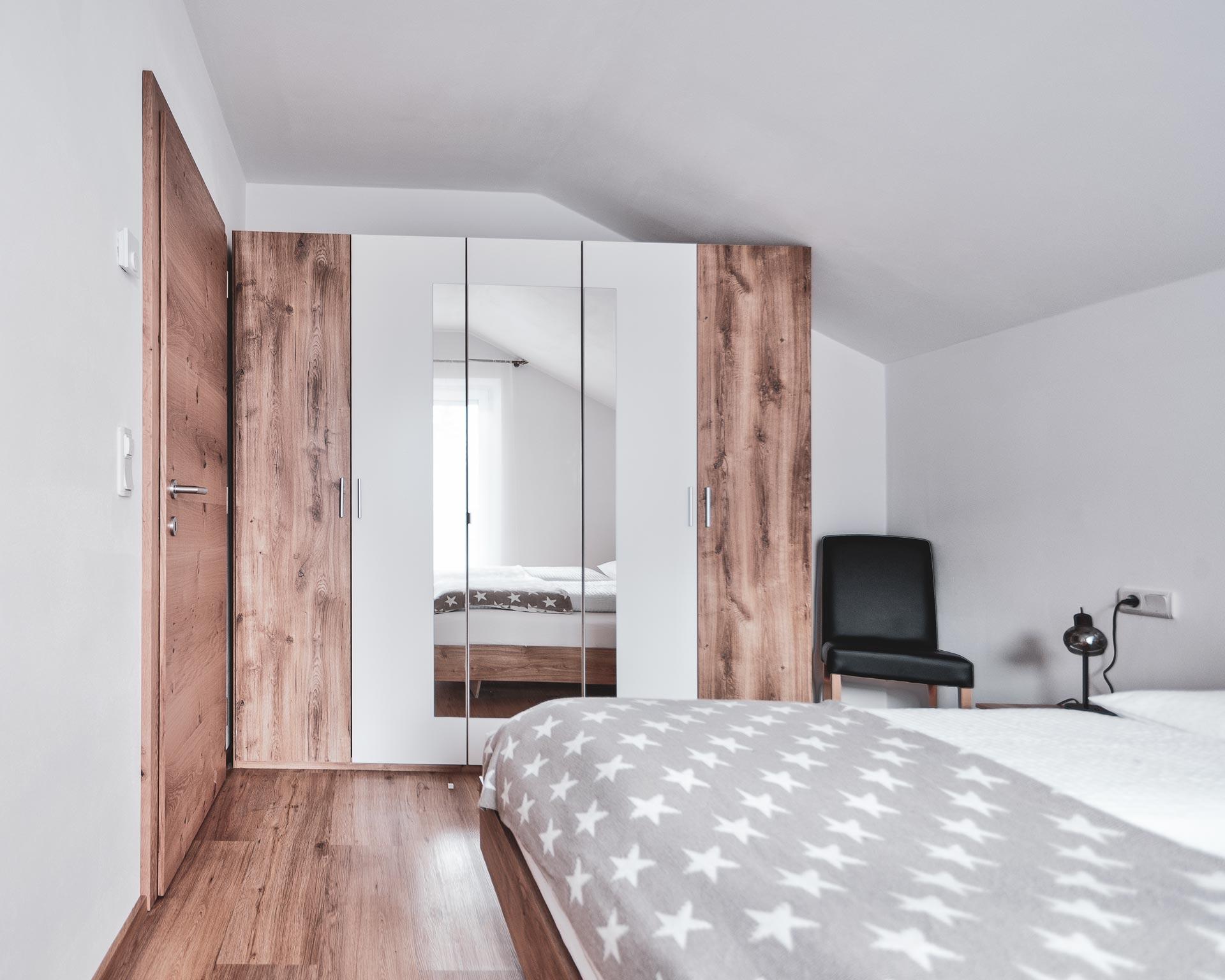 schlafzimmer kematen appartement pfarrwirt sand in taufers