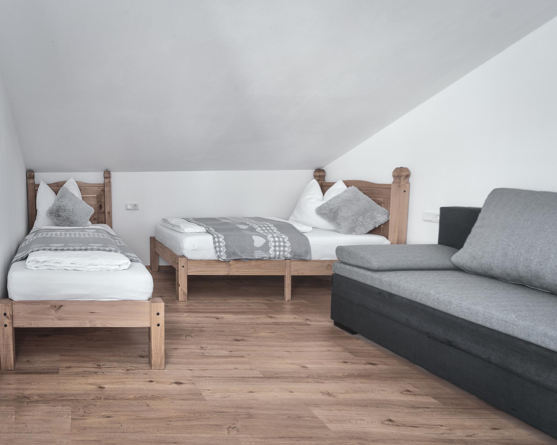 schlafzimmer betten appartement ahrntal pfarrwirt sand in taufers