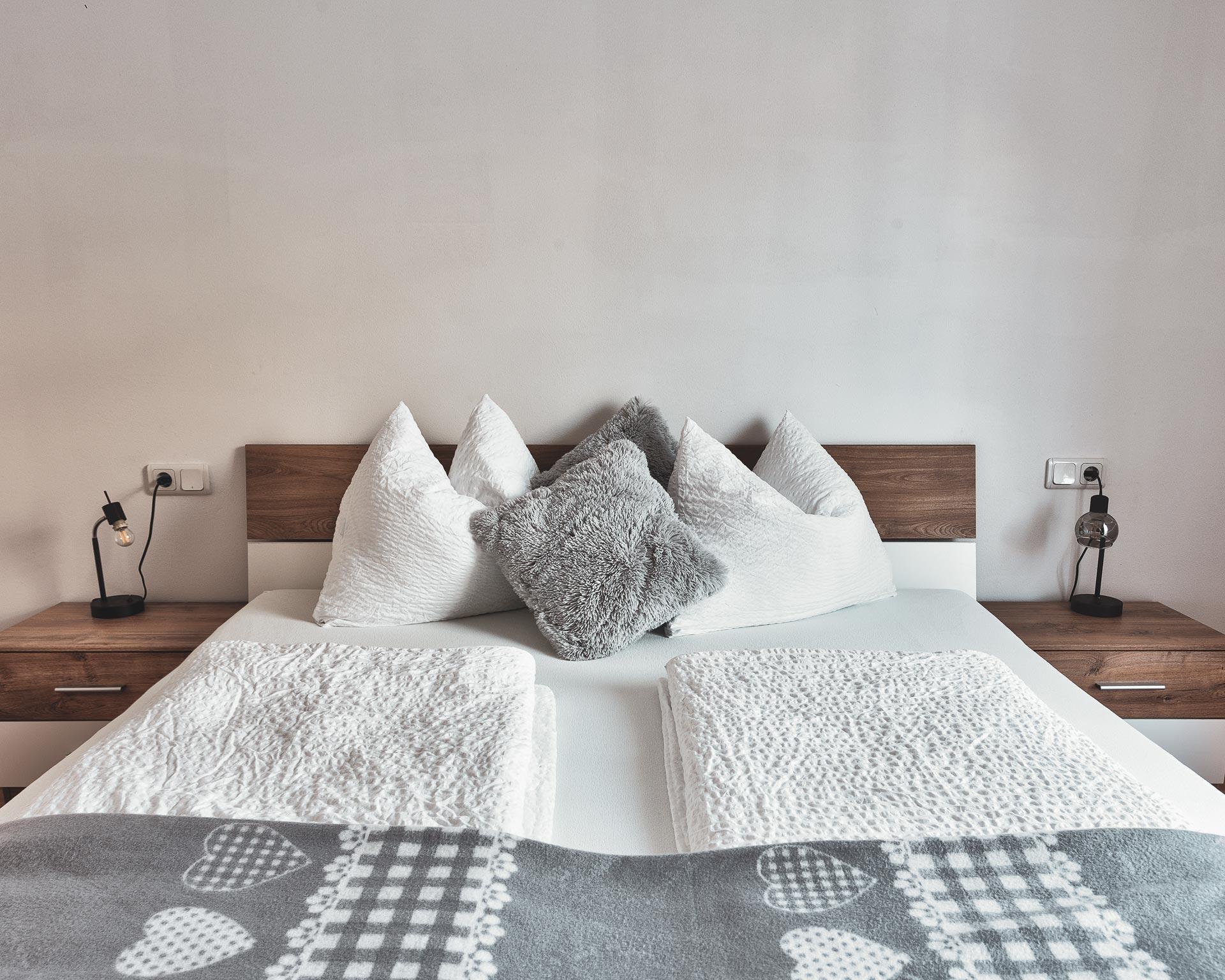 bett schlafzimmer appartement ahrntal pfarrwirt sand in taufers